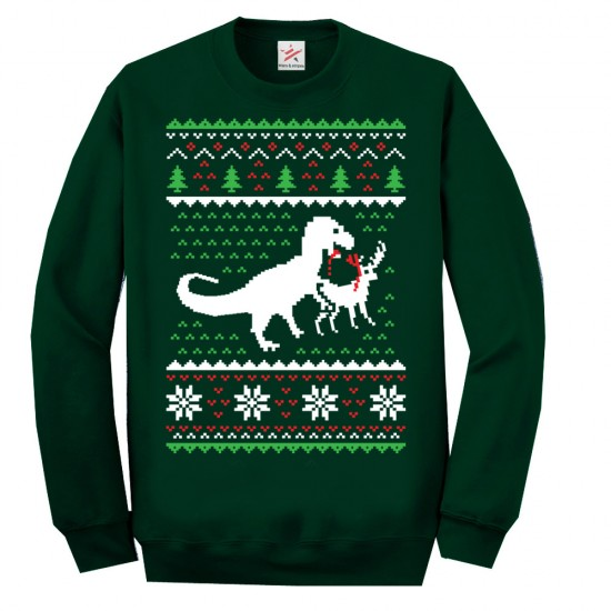 T Rex Dinosaurs Christmas Ugly Jumper