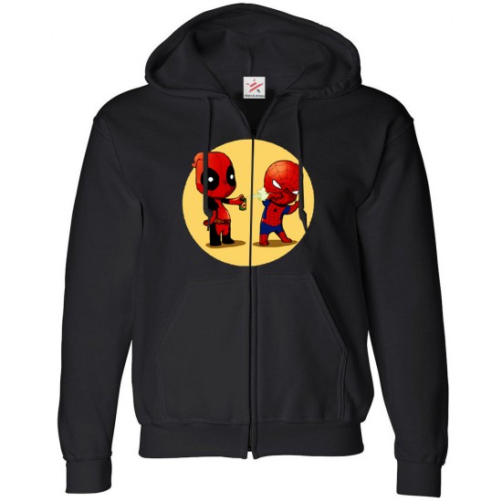 Dead and Spider Spray Zip Hoodie