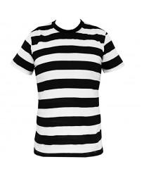 Prison Stripes Black/White T Shirt