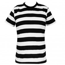 Prison Stripes Black/White T Shirt