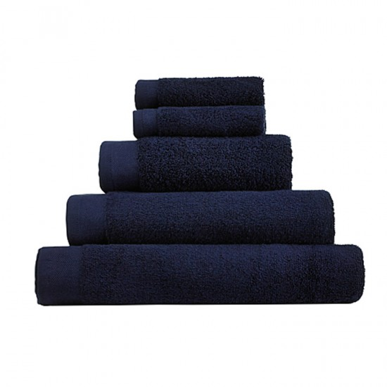 Large Bath Size Navy Towel 100 x 150 cm
