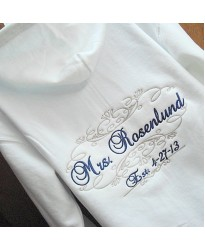 Personalised Zip  Wedding Hoodie with embroidery text