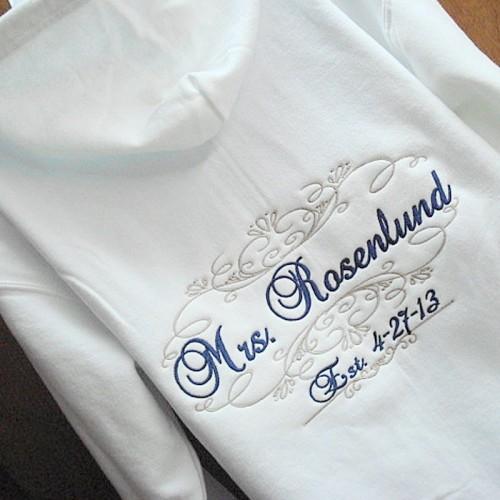 Wedding Personalised Wedding Hoodies Personalised Zip Wedding ...