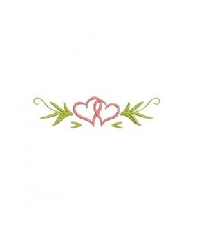 Entwined hearts logo embroidered Bathrobe