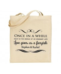 Bridal fairytale tote bag with your personalised text