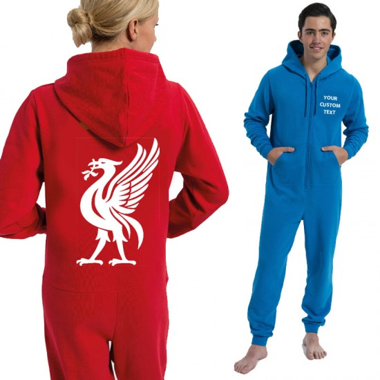 Personalised Football Onesies Liverbird text play name printed