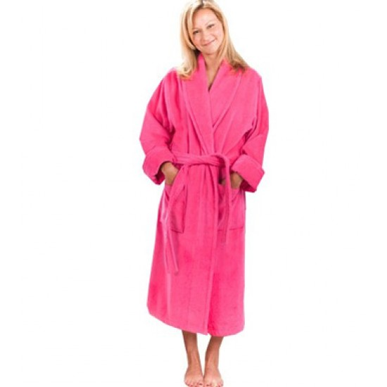 Terry Fuschia Bathrobe