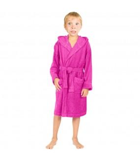 Children Fuschia Pink Hooded Robe