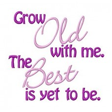Grow with me logo embroidered Bathrobe