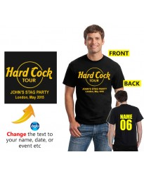Hard cock tour cool Customised Stag T shirt