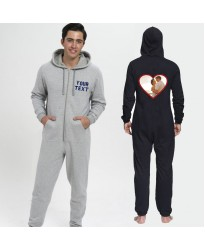 Personalised image in a heart Onesies