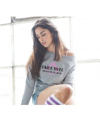 Bridal Customised Wedding Sweatshirt in Heather