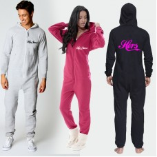 His & Her 2 onesies with custom Personalised text