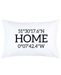 Personalized home coordinates printed pillowcase covers