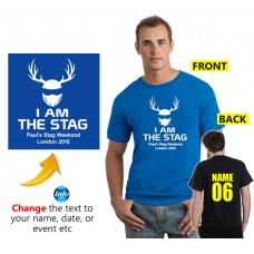 I am the Stag Cool Custom Stag helmet T shirt