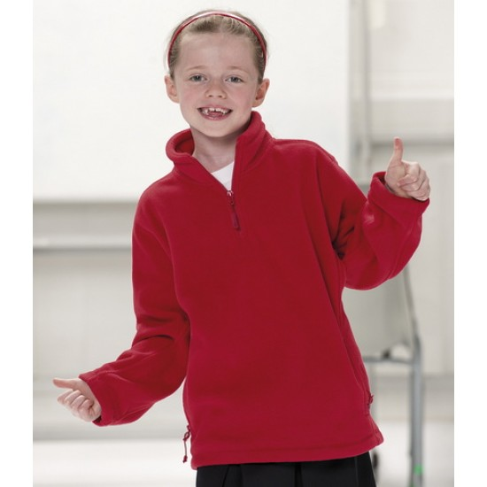 Personalised Kids Zip Neck Fleece 874B Schoolgear Jerzees