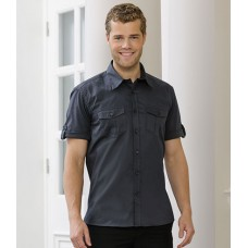 Personalised Twill Roll Shirt 919M Short Sleeve Russell 130 GSM