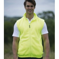 Personalised Fleece Gilet EV84 Enhanced Visibility  RTY