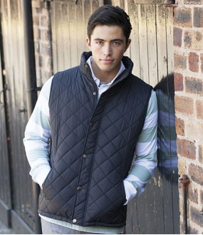 Personalised Quilted Gilet Row FR903 Front 140