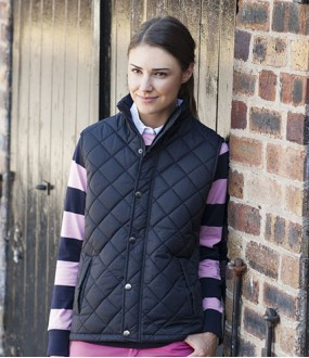 Personalised Quilted Gilet Row FR904 Front