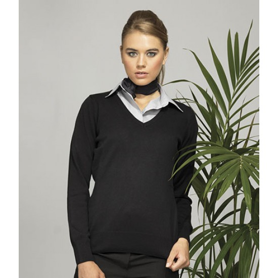 Personalised Sweater PR696 Ladies Knitted V Neck Premier