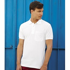 Personalised Shirt SS23 Pocket Polo Fruit of the Loom White 170 gsm Cols 180 GSM Hoodie