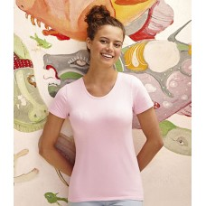 Personalised T-Shirt SS71 Lady Fit Fruit of the Loom White 200 gsm Cols 210 GSM