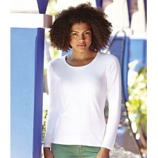 Personalised T-Shirt SS78 Lady Fit Fruit of the Loom White 200 gsm Cols 210 GSM