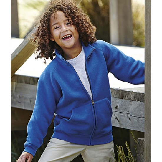 Personalised Sweat Jacket SS92B Kids Classic Fruit of the Loom 280 gsm GSM