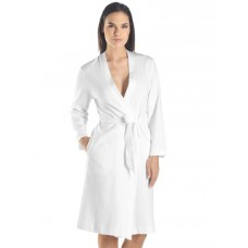 Jersey lightweight white kimono robe