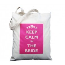 Bridal Keep calm I'm the bride tote bag