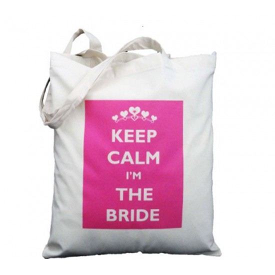 Bridal Keep calm I'm the bride tote bag
