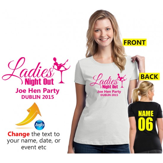 Ladies in Champagne cup Hen T Shirt