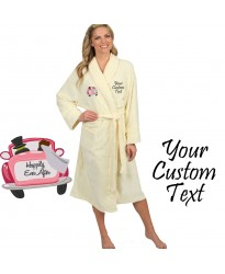 Happly ever after logo embroidered Bathrobe
