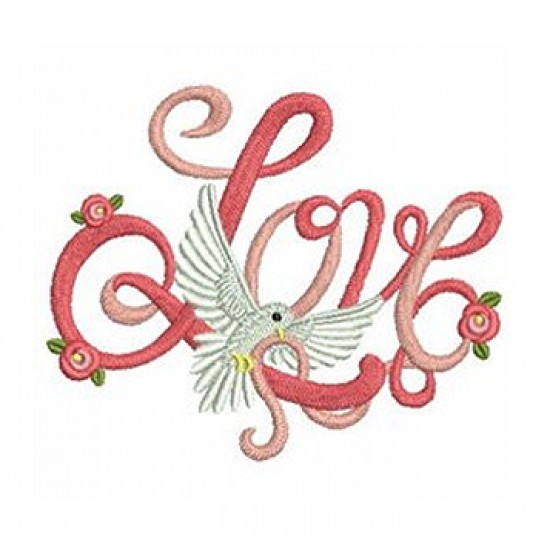 Love dove logo embroidered Bathrobe