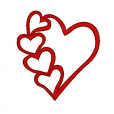 Many hearts logo embroidered Bathrobe