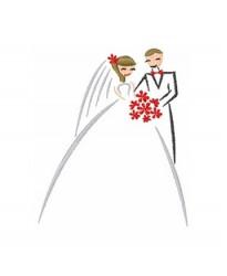 Married couple cute logo Robe