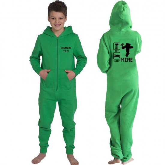 Gamer Custom Eat Sleep and JUST MINE Kids onesie