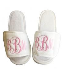 Personalised custom MONOGRAM embroidery on slippers