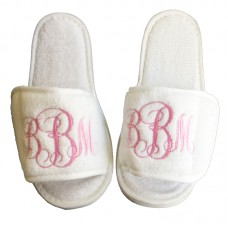Personalised custom MONOGRAM embroidery on slippers