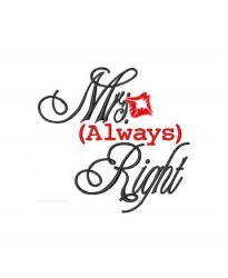 Mrs always right logo embroidered Bathrobe