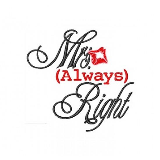 Mrs always right logo embroidered Bathrobe