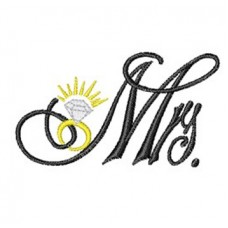 Mrs logo with diamond ring Embroidery Bathrobe