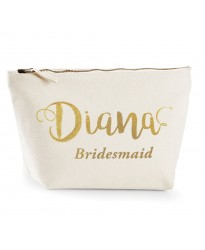 Personalised TEXT printing Name and role on cotton purse bag