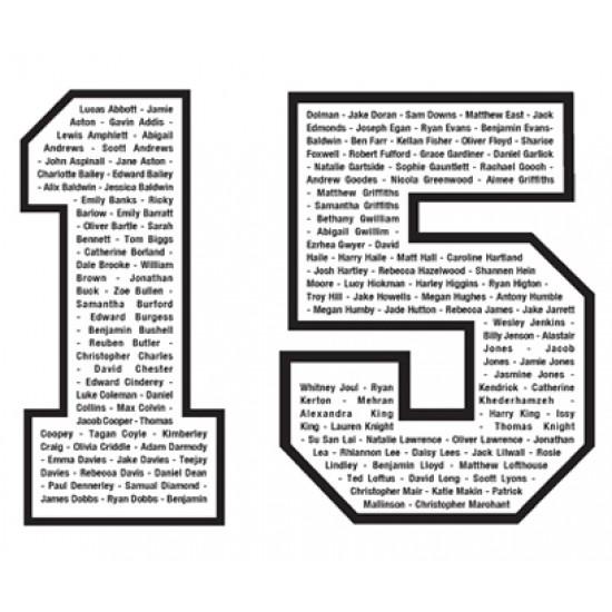 Personalised Leavers Onesies names inside 15
