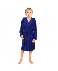 Children Navy Hooded Robe