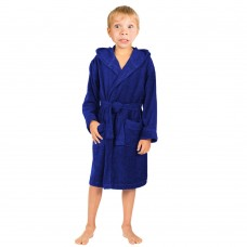 Children Navy Hooded Robe
