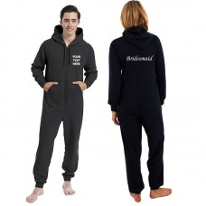 Personalised onesie with front, back text printed
