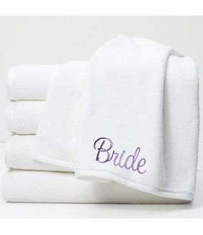 Personalised Towels with custom text Embroidery