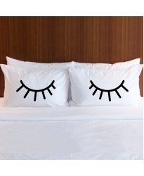 EYELASH print pillowcase (A set of 2 pillowcovers)